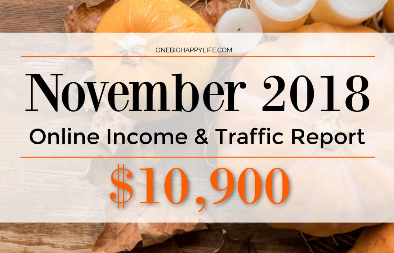 November 2018 Online Income & Traffic Report